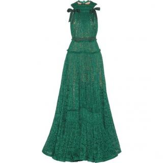 Lanvin Green lace gown