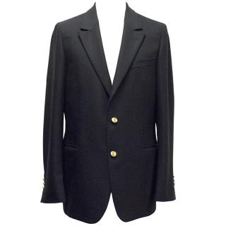 Yves Saint Laurent Navy Blue Wool Blazer
