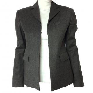 Massimo Dutti brown wool & cashmere stretch blazer