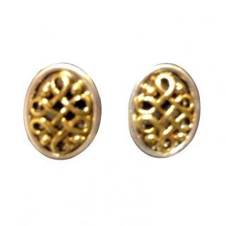 Oscar de la Renta Filigree Vintage Earrings New