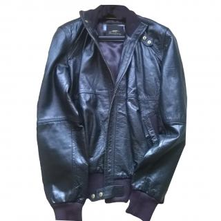 Thomas Burberry Leather Jacket