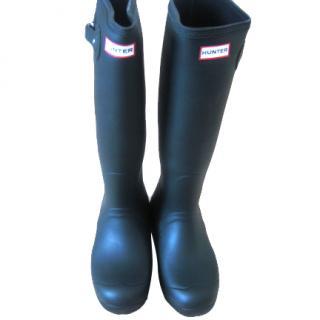 Hunter Green Rain Boots with Box