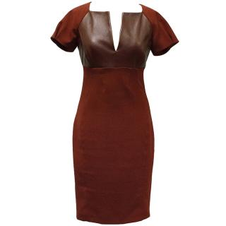 Pinko Burgundy Detail Dress