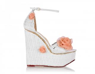Charlotte Olympia Hortencia embellished woven-leather sandals