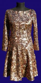 Just Cavalli Gold Party Dress