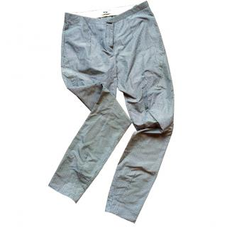 Acne check trousers