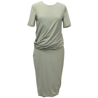 T by Alexander Wang Green Short-Sleeve Dress