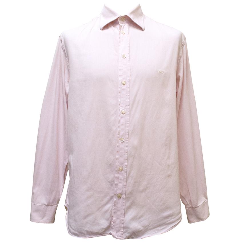 Emporio Armani Pink Cotton Shirt