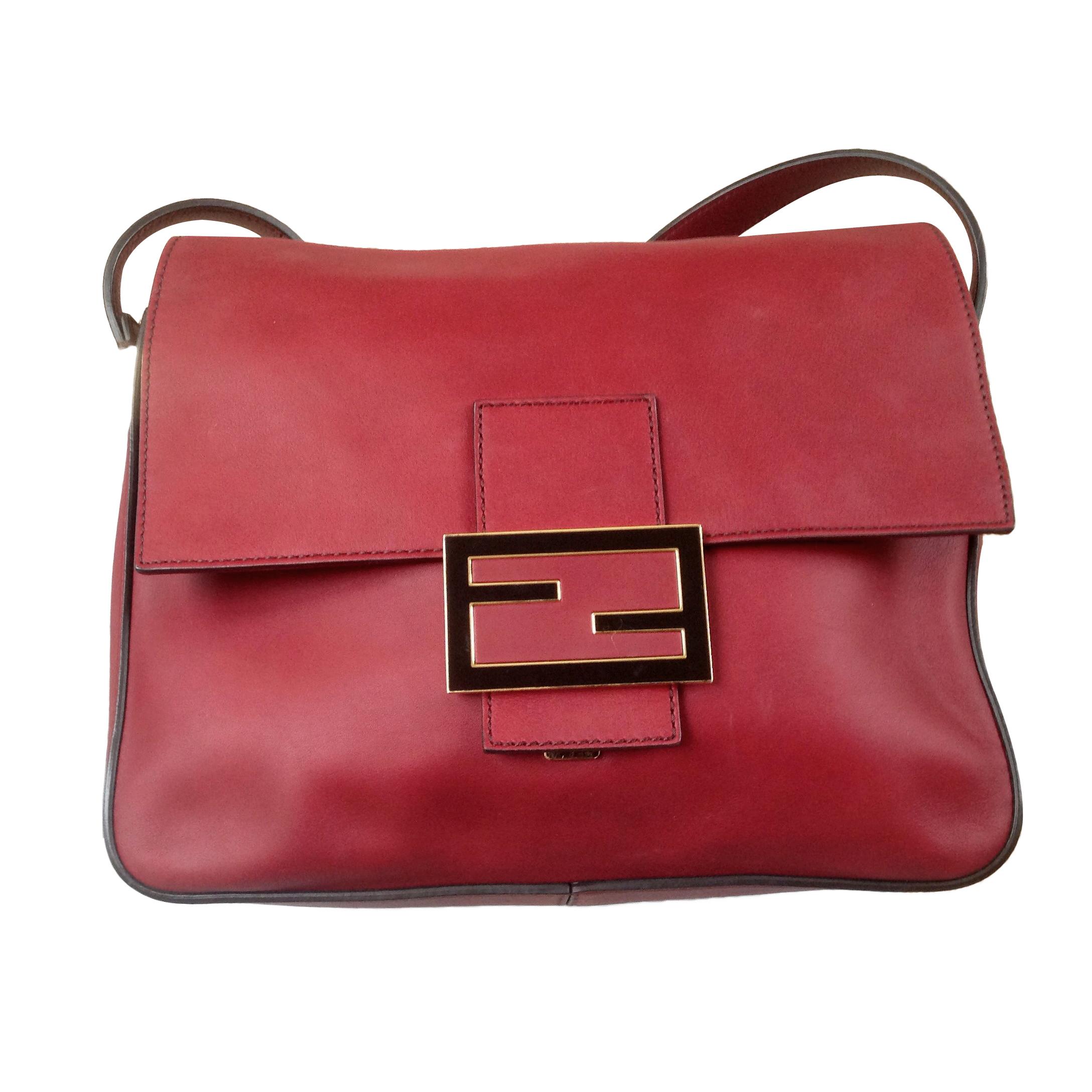 7dad6fc9a47 Fendi Red Leather Shoulder Bag | HEWI London