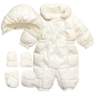 Monnalisa baby girl down padded snowsuit