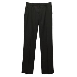 Sportmax Wool-Blend Black Trousers