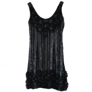 Ugo Zaldi Black Sequin Dress