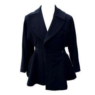 Alaia Navy Wool Coat