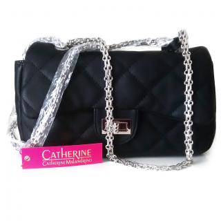 Catherine Malandrino Quilted Black Bag