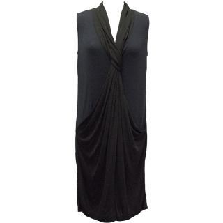 Diane von Furstenberg Navy and Black Sleeveless Dress