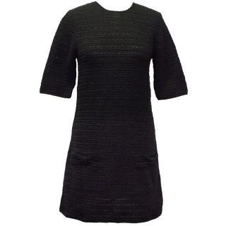 By Malene Birger Black Short Sleeve Crochet Dress