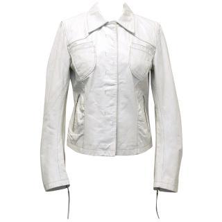 Sportmax White Leather Jacket