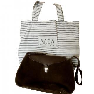 Anya Hindmarch Leather & Suede Brown Bag