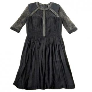 Catherine Deane Silk & Leather Dress