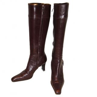 Sergio Rossi brown long boots