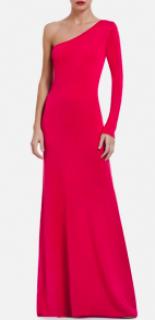 BCBG Pink One Sleeved Maxi Dress