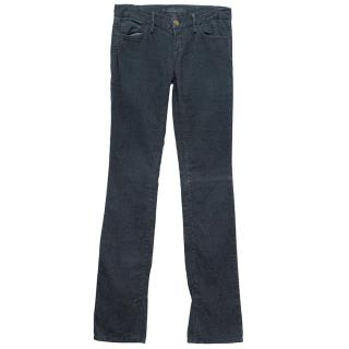 J Brand Blue Corduroy Trousers