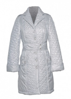 Moschino Silver Padded Coat