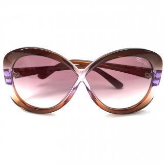 Tom ford Purple Round Margot Sunglasses