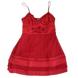 Moschino silk red dress