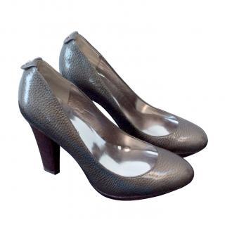 Karen Millen Metallic grey high heel shoes