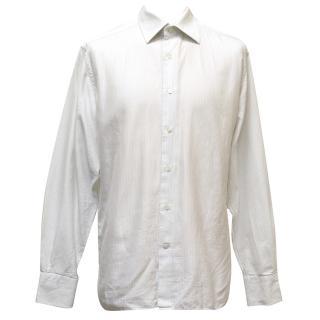Kilgour White Pinstripe Shirt