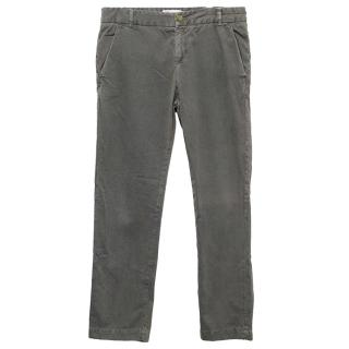 Current Elliot Washed Grey Cotton Trousers