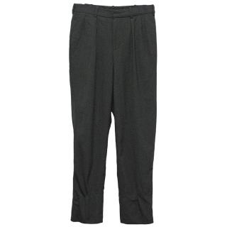 E.Tautz Charcoal Grey Cotton-Blend Trousers