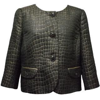 Armani Collezioni Black Jacket with Gold Detailing