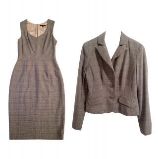 DAVID MEISTER wool tweed jacket & dress suit