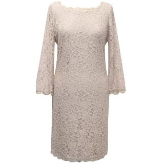 Diane von Furstenburg Blush Blush Pink Lace Dress