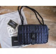 Chanel navy quilted shoulder bag