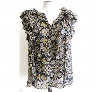 3.1 Phillip Lim ikat print top