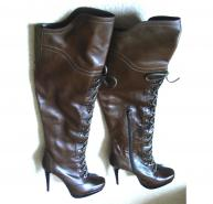 Brown knee high Weizman boots