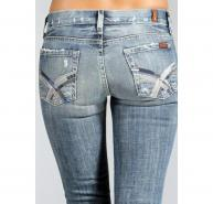 7 for All Mankind Crystal Pkt Bootcut Jeans