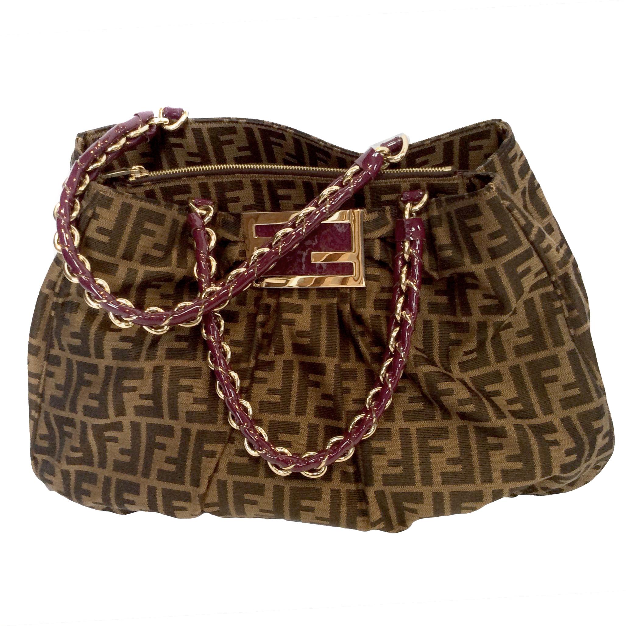 6f418187f65 Fendi Zucca And Vernice Mia Purple Bag
