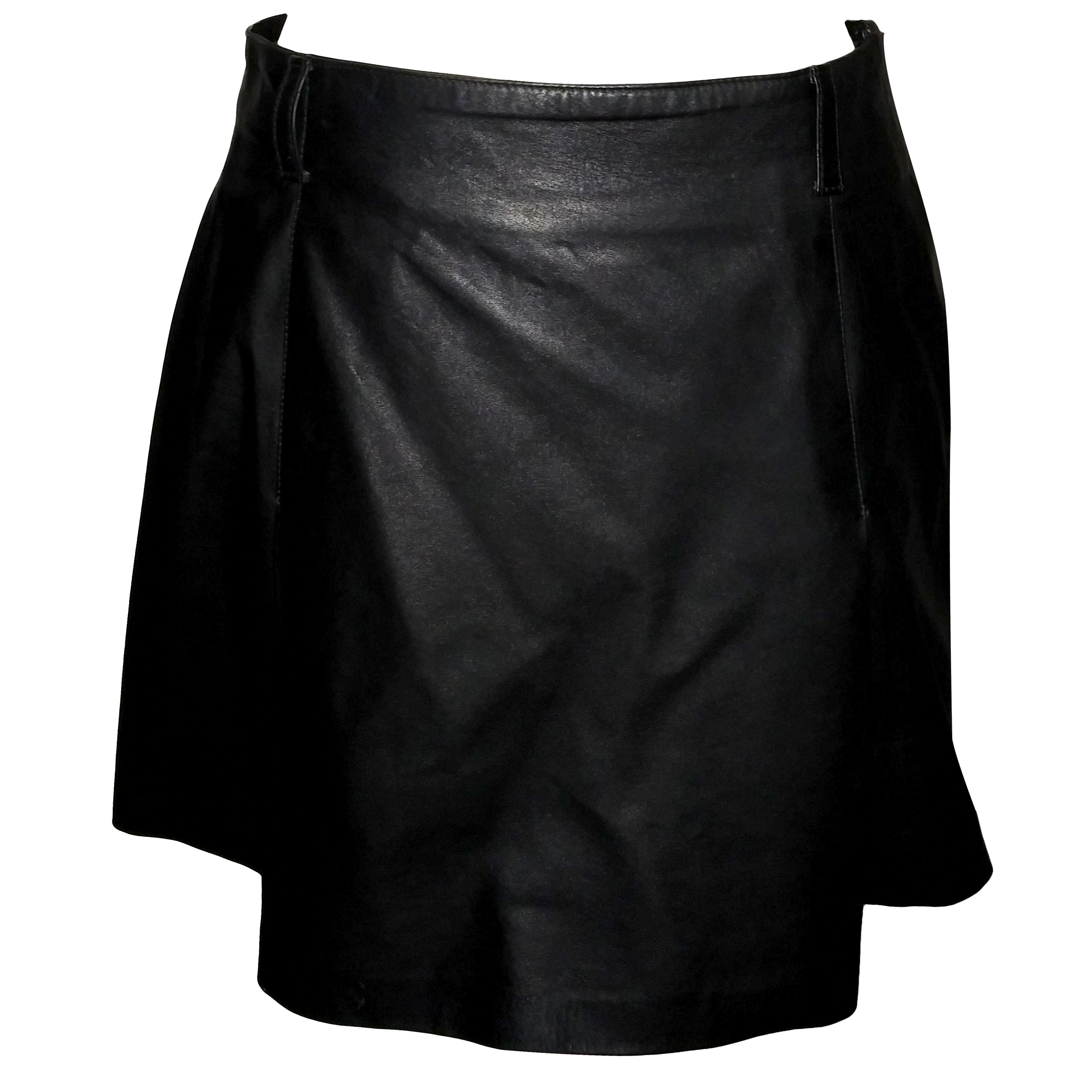 67566034 Prada leather black skirt