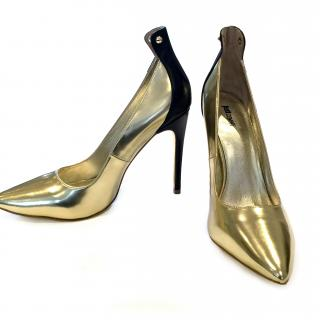 Just Cavalli Gold Shoes