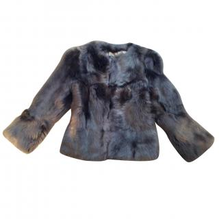 Freda Gray Fox Coat