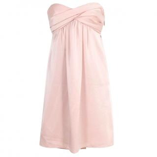 BCBG Max Azria Pink Strapless Party Dress with Bow