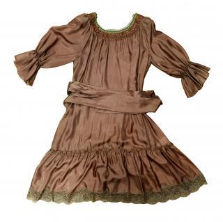Blugirl embellished silk dress