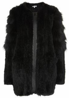 Elizabeth & James Black Tarra Fur Coat