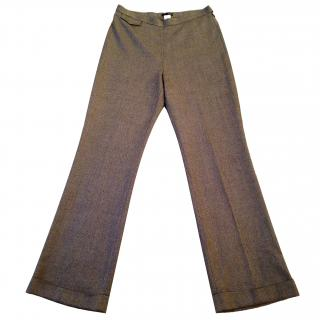 J Crew wool herringbone tweed trousers