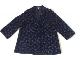 Giorgio Armani Black Label flower painted velvet coat