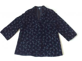Giorgio Armani Black Label flower painted velvet coat